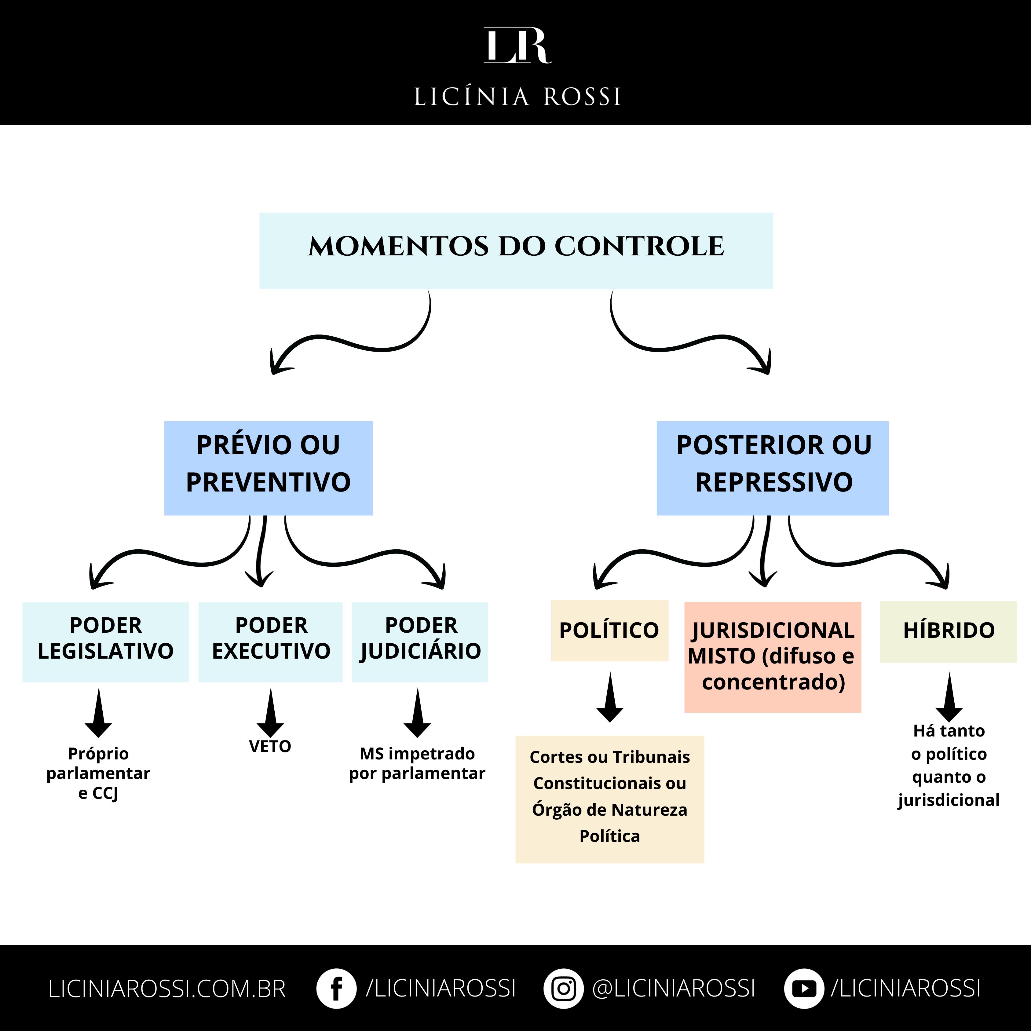 Momentos do Controle – Controle de Constitucionalidade – Licínia Rossi